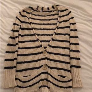 Free People striped cardigan XS